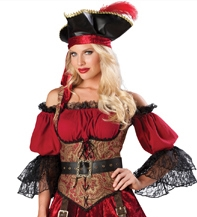 Swashbucklin' Scarlet Pirate Wench - Small